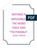 I'm Possible Quote 8x10