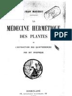 Maveric J Medecine Hermetique Des Plantes