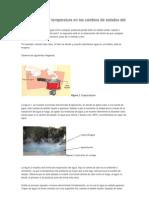 Cómo influye la temperatura en los cambios de estados del agua