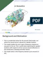 COMSOL - Sedan Interior Acoustics Presentation