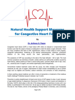 Natural Health Support Measures for Congestive Heart Failure