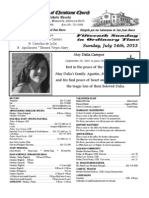 Parish Bulletin for July 14, 2013