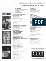 Duke University Press American Sociological Association 2013 Program Ad