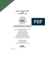 2012 Ny Election Law