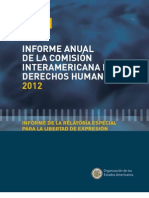 Informe Anual de la Comisión Interamericana de Derechos Humanos 2012