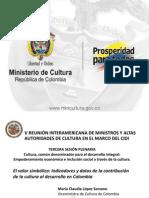 Contribución de la cultura al desarrollo en Colombia