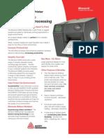 Monarch 9906 Tabletop Bar Code Printer Brochure