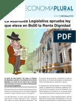 Boletín Economía Plural N°25: