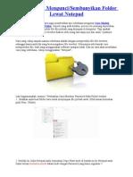 Cara Mudah Mengunci & Sembunyikan Folder Lewat Notepad by Oget Sincan