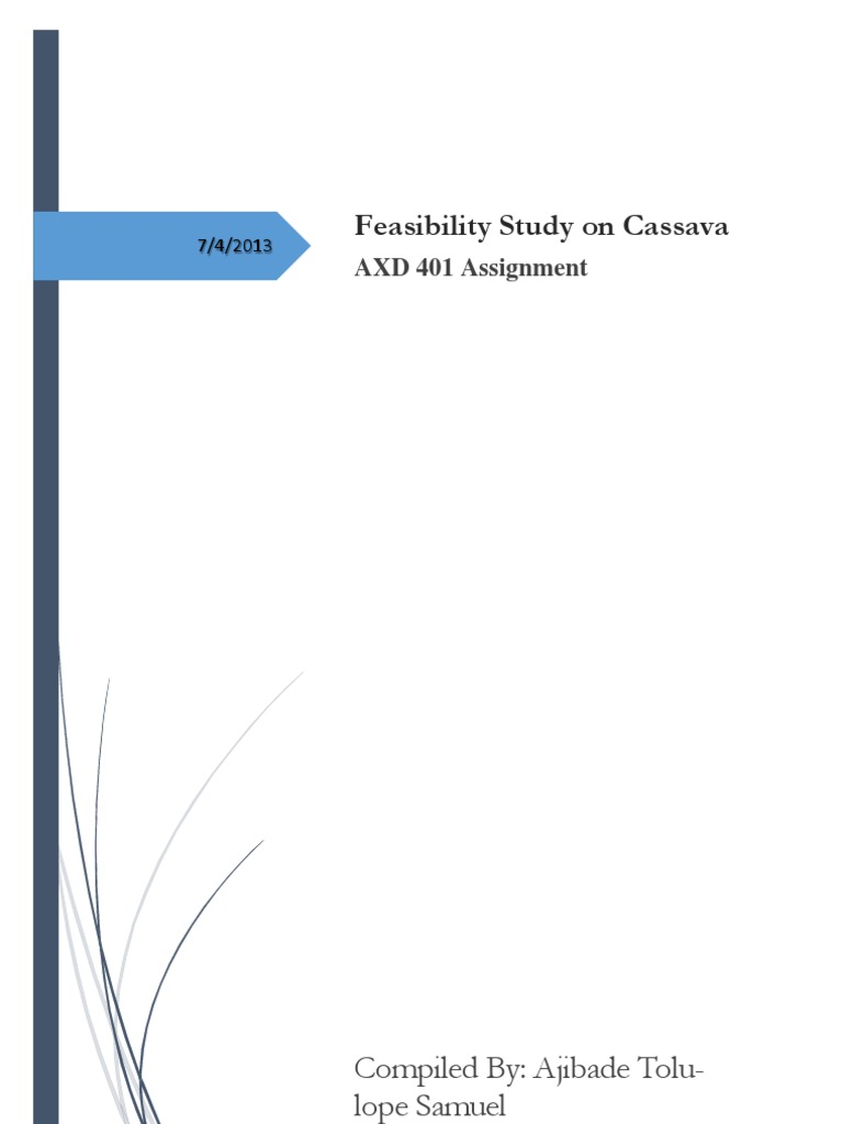 Feasibility Study on Cassava Production in Nigeria | Starch