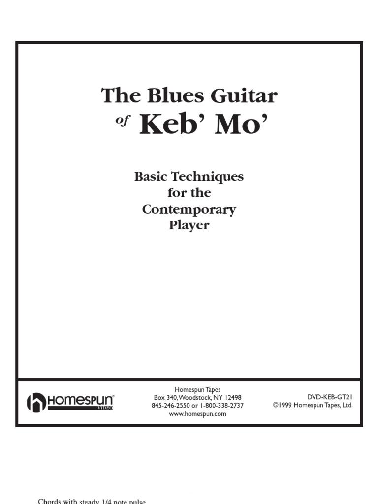 Blues Guitar Of Keb Mo