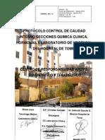 Control de Calidad Interno Secciones Quimica Clinica Hormonas y Laboratorio de Urgencia
