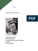 Respuestas a el manifiesto comunista,la ideologia alemana y sociología de la dominación