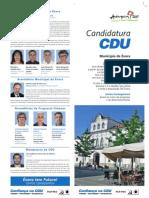 Candidatura CDU ao Município de Évora