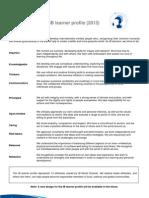 perfil comunidad aprendizaje 2013