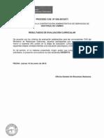 ACTA DE RESULTADOS CAS Nº 636-2012-OTI - CURRICULAR - DESIERTO