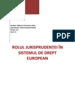 Rolul Jurisprudentei in Sistemul European (1)
