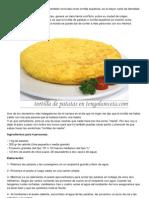 Como Hacer Tortilla de Patatas