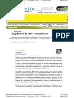 290506 Opinión, Regulación de servicios públicos