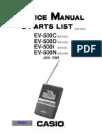 Casio Ev500c Lcd Tv Sm