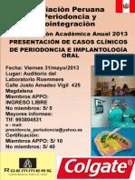 PRESENTACIÓN DE CASOS CLÍNICOS DE PERIODONCIA E IMPLANTOOGÍA ORAL