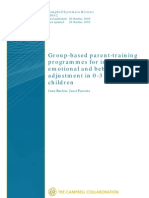 Barlow - Group-Based Parent-training Programmes for Improving Emotional and Behavioural Adjustment in 0-3 Year Old Children - CSR