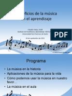 Beneficios de La Musica en Etapa Inicial(Claudia Tobar)