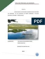 PIP - INST. PROTECCION RR HIDROBIOLOGICOS CON FINES DE SEGURIDAD DIST. PTO BERMUDEZ Y PALCAZU - AÑO 2012