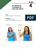 Lingua Brasileira de Sinais Libras Aula 4