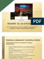 Resumen Exposiciones Hotel Los Delfines 10072013