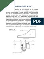Proceso de deshumidificación