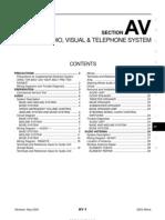 2003 Nissan Altima 2.5 Serivce Manual AV