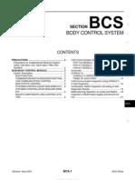 2003 Nissan Altima 2.5 Serivce Manual Bcs
