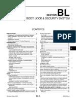 2003 Nissan Altima 2.5 Serivce Manual BL