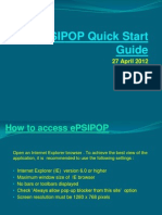 ePSIPOP Quickstart Guide