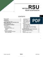 2003 Nissan Altima 2.5 Serivce Manual RSU
