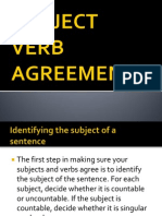 SUBJECT VERB AGREEMENT.ppt