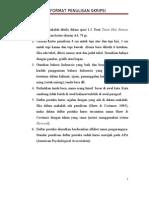 Format Penulisan Skripsi