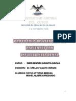 Atencion Odontologica en Pacientes Con Insuficiencia Renal