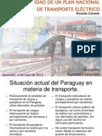 La necesidad de un  Plan Nacional de Transporte Eléctrico