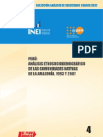 INEI Analisis Comunidades Nativas 1993 2007