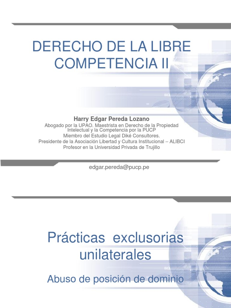 5. Derecho de La Libre Competencia II