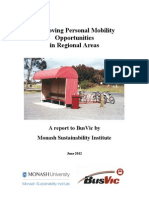 Improving Personal Mobility Opportunities in Regional Areas
