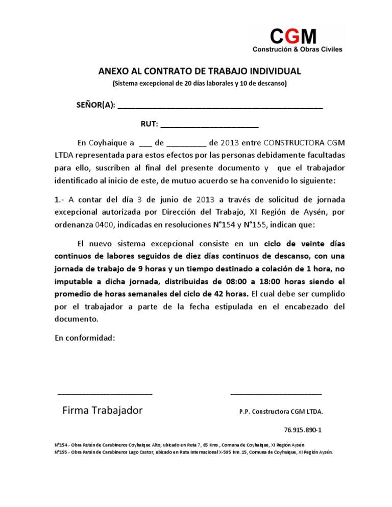 Formato Anexo Contrato Jornada 20x10