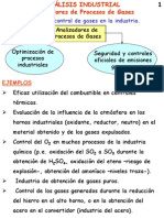 Analisis Industrial, Analisis Del Procesos de Gases