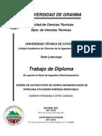 DISEÑO DE UN PROTOTIPO DE HORNO DESHIDRATADOR DE SPIRULINA UTILIZANDO ENERGÍA RENOVABLE