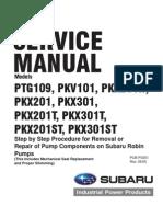Subaru Pump Service Manual