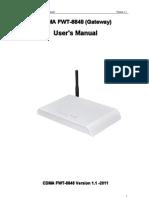 CDMA FWT 8848 User's Manual