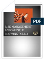 Risk Management and Whistle Blowing Policy