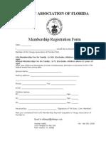 Taf Membership Form